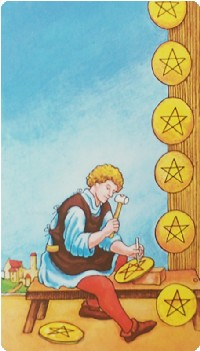 Eight of Pentacles Tarot Card Meanings tarot card meaning