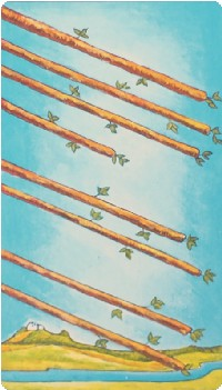 cảm nhận Eight of Wands