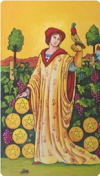 Nine of Pentacles Tarot Card Meanings