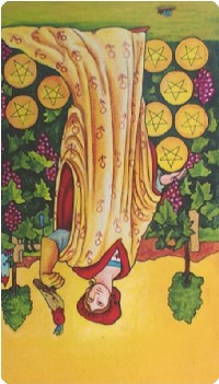 Nine of Pentacles Tarot Card Meanings tarot card meaning