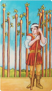 Nine of Wands Tarot Card Meanings tarot card meaning
