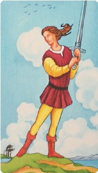 Page of Swords Tarot Card Meanings