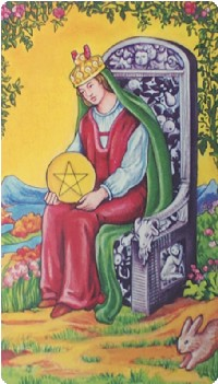Queen of Pentacles Tarot Card Meanings