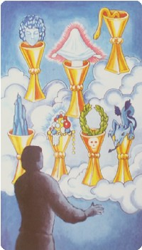 Seven of Cups Tarot card meanings
