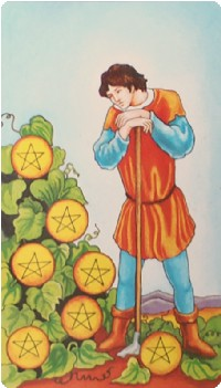 Seven of Pentacles Tarot Card Meanings