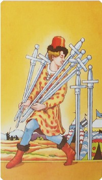 Seven of Swords Tarot Card Meanings