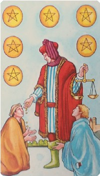 Six of Pentacles Tarot Card Meanings tarot card meaning