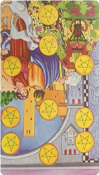 Ten of Pentacles Tarot Card Meanings tarot card meaning
