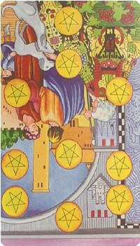 Ten of Pentacles Tarot Card Meanings tarot card meaning