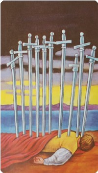 Ten of Swords Tarot Card Meanings