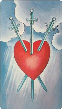 Three of Swords Tarot Card Meanings tarot card meaning