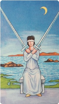 Two of Swords Tarot Card Meanings tarot card meaning