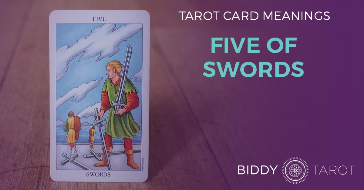 Five of Swords Tarot Card Meanings | Biddy Tarot
