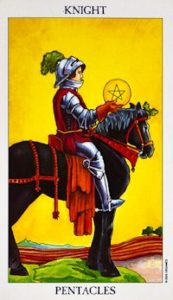 knight_pentacles celtic cross