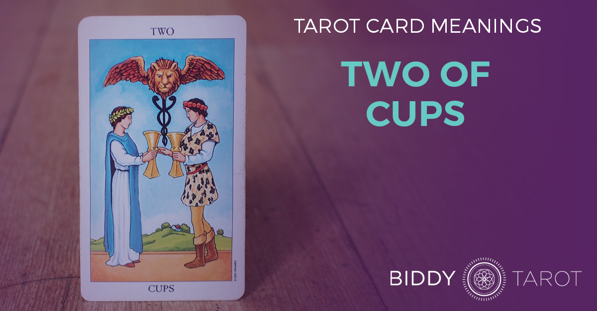 Two of Cups Tarot Card Meanings | Biddy Tarot