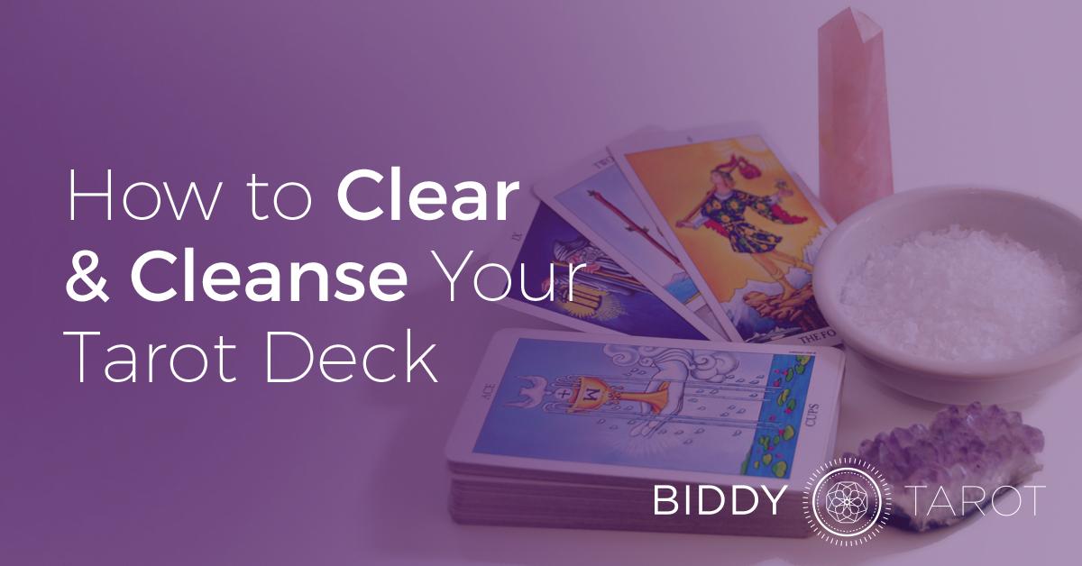 Clear cleanse tarot deck