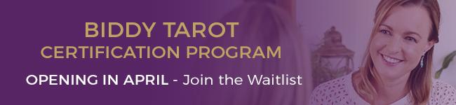 Biddy Tarot Certification Waitlist