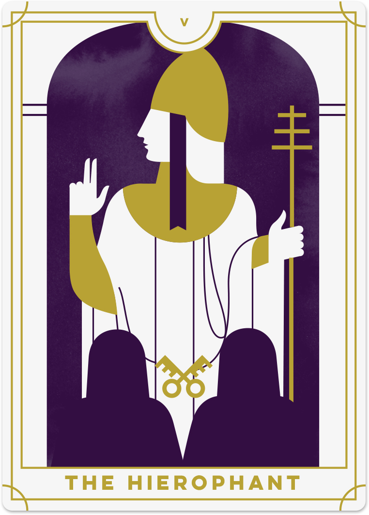 Hierophant Tarot Card Meanings | Biddy Tarot