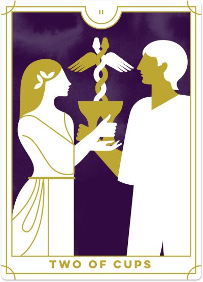 Two Of Cups Tarot Card Meanings Biddy Tarot