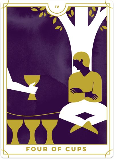 Four of Cups Tarot Card Meanings tarot card meaning