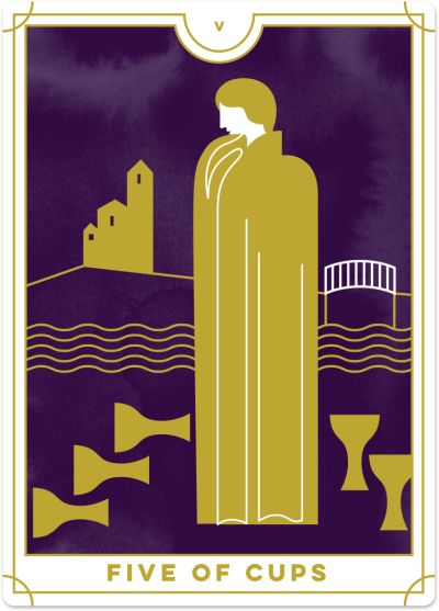 Five of Cups Tarot Card Meanings tarot card meaning