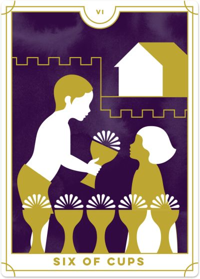 Six of Cups Tarot Card Meanings tarot card meaning