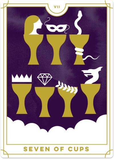 Seven of Cups Tarot Card Meanings tarot card meaning