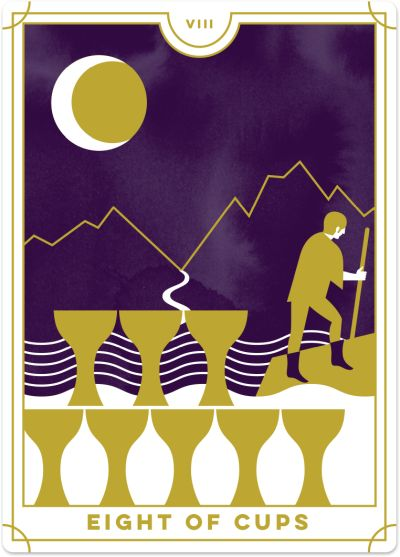 Eight of Cups Tarot Card Meanings tarot card meaning
