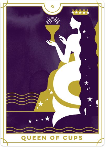 Queen of Cups Tarot Card Meanings tarot card meaning