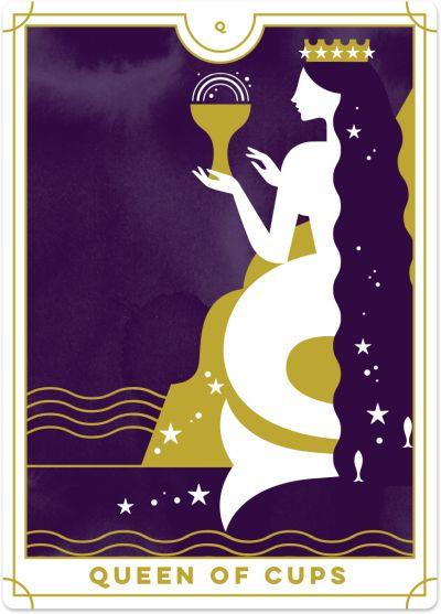 Queen of Cups Tarot Card Meanings | Biddy Tarot