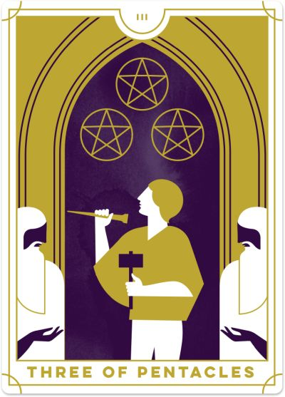 Three of Pentacles Tarot Card Meanings tarot card meaning