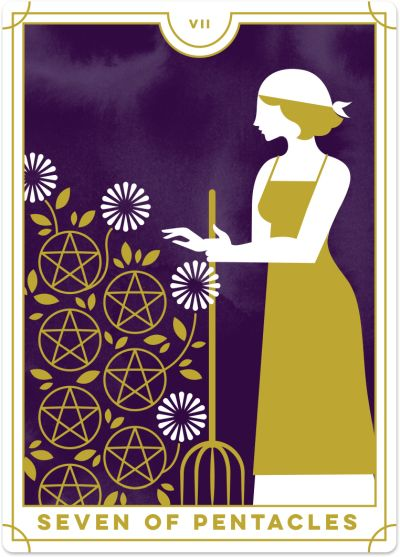 Seven of Pentacles Tarot Card Meanings | Biddy Tarot