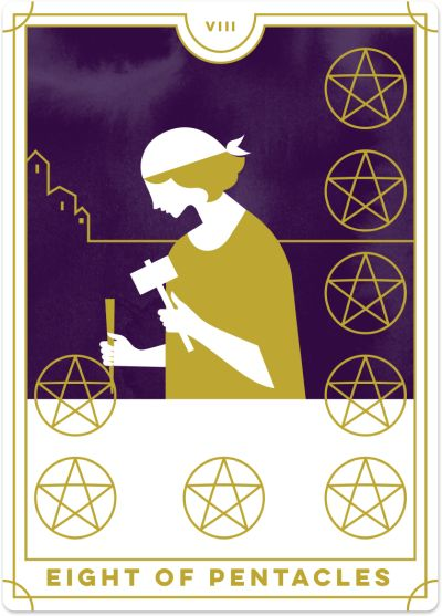 Eight of Pentacles Tarot Card Meanings | Biddy Tarot