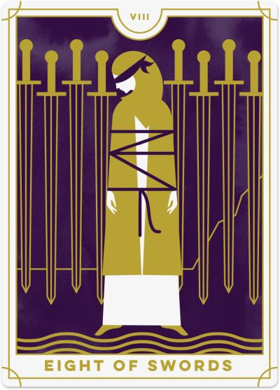 Eight of Swords Tarot Card Meanings tarot card meaning