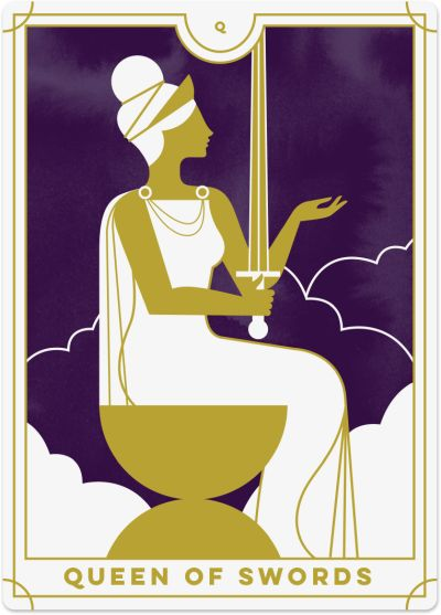 Queen of Swords Tarot Card Meanings tarot card meaning