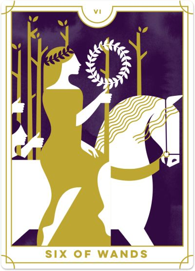 Six of Wands Tarot Card Meanings tarot card meaning