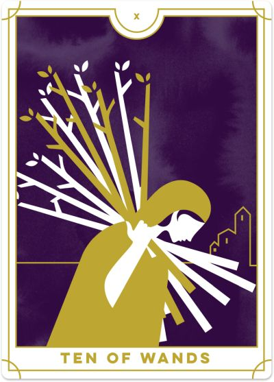 Ten of Wands Tarot Card Meanings tarot card meaning