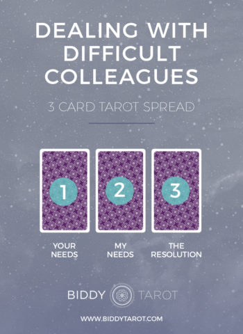 dealing with difficult colleagues tarot spread