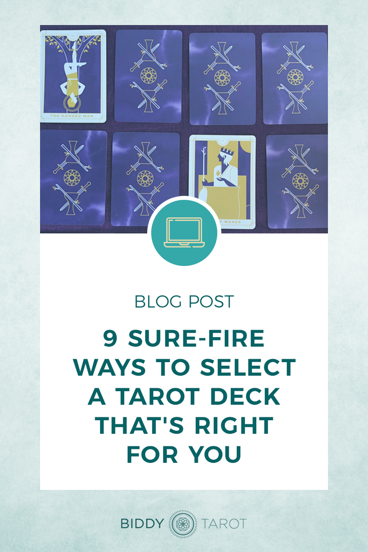 9 Sure-Fire Ways to Select a Deck that is Right for You - Everyday Tarot Deck