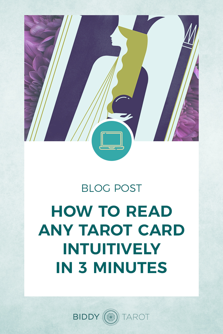 How to Read Any Tarot Card Intuitively in 3 Minutes or Less | High Priestess from the Everyday Tarot Deck | Biddy Tarot