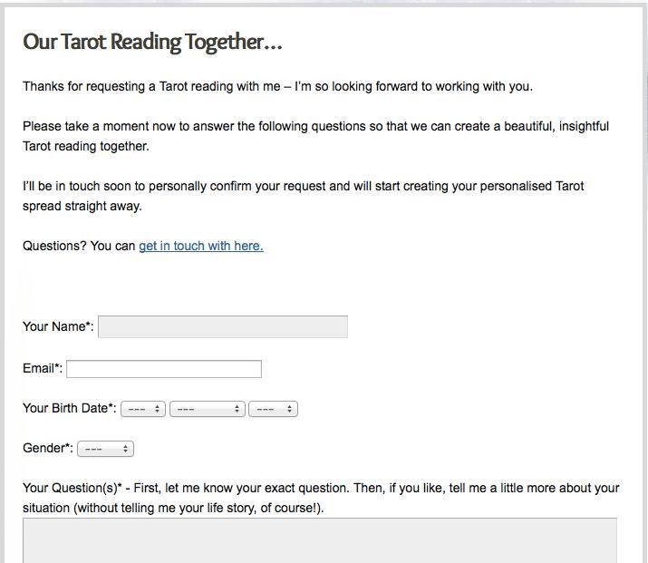 A BehindtheScenes Tour Of My Email Tarot Readings Biddy Tarot Blog - Tarot card template